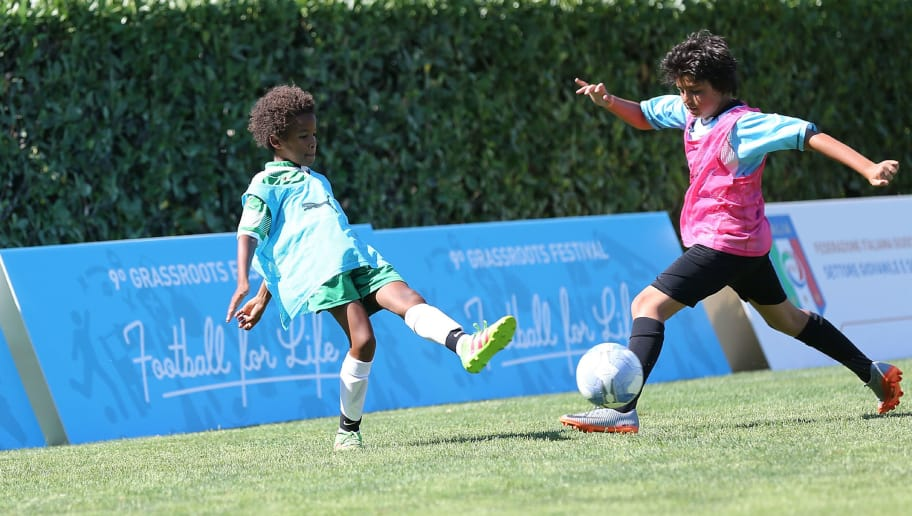 FLORENCE, ITALY - JUNE 17: General view during the Italian Football Federation activities in the field 'You're good at ... football school' during 9th Grassroots Festival at Coverciano on June 17, 2017 in Florence, Italy.  (Photo by Gabriele Maltinti/Getty Images)