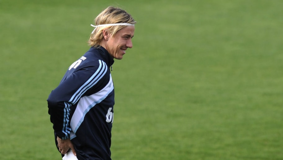 Real Madrid football club's midfielder Guti trains in Madrid on March 23, 2010. AFP PHOTO / PIERRE-PHILIPPE MARCOU (Photo credit should read PIERRE-PHILIPPE MARCOU/AFP/Getty Images)