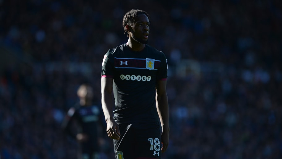 BIRMINGHAM, ENGLAND - OCTOBER 29: Josh Onomah of Aston Villa looks on during the Sky Bet Championship match between Birmingham City and Aston Villa at St Andrews (stadium) on October 29, 2017 in Birmingham, England. (Photo by Nathan Stirk/Getty Images)