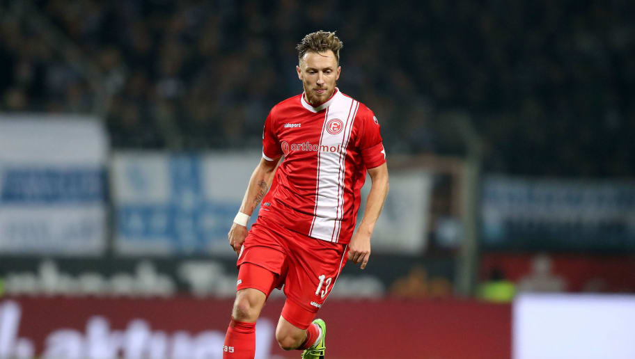 BOCHUM, GERMANY - OCTOBER 30:  Adcam Bodzek of Duesseldorf runs with the ball during the Second Bundesliga match between VfL Bochum 1848 and Fortuna Duesseldorf at Vonovia Ruhrstadion on October 30, 2017 in Bochum, Germany.  (Photo by Christof Koepsel/Bongarts/Getty Images)