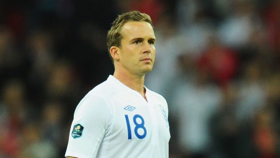 LONDON, ENGLAND - OCTOBER 12: Kevin Davies of England in action during the UEFA EURO 2012 Group G Qualifying match between England and Montenegro at Wembley Stadium on October 12, 2010 in London, England.  (Photo by Mike Hewitt/Getty Images)