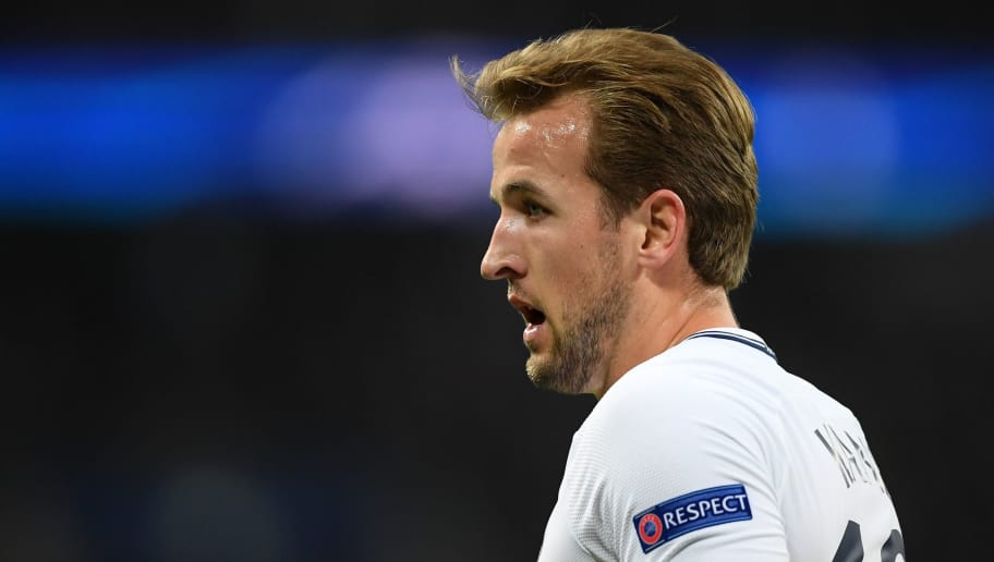 LONDON, ENGLAND - NOVEMBER 01:  Harry Kane of Tottenham Hotspur looks on during the UEFA Champions League group H match between Tottenham Hotspur and Real Madrid at Wembley Stadium on November 1, 2017 in London, United Kingdom.  (Photo by Laurence Griffiths/Getty Images)