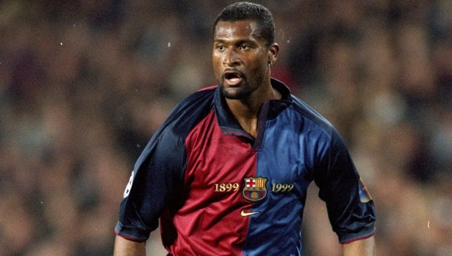 15 Mar 2000:  Winston Bogarde of Barcelona in action during the UEFA Champions League match against Hertha Berlin at the Nou Camp in Barcelona, Spain.  Barcelona won the match 3-1.   \ Mandatory Credit: Clive Brunskill /Allsport