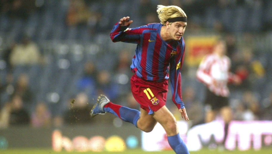 BARCELONA, SPAIN - JANUARY 11:  Maxi Lopez of FC Barcelona in action during the Copa del Rey, second round, first leg match between FC Barcelona and Zamora at the Camp Nou stadium on January 11, 2006 in Barcelona, Spain.  (Photo by Luis Bagu/Getty Images)