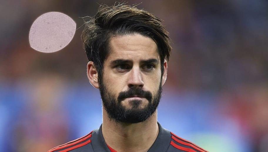 MALAGA, SPAIN - NOVEMBER 11:  Isco Alarcon of Spain looks on during the international friendly match between Spain and Costa Rica at La Rosaleda Stadium on November 11, 2017 in Malaga, Spain.  (Photo by Aitor Alcalde/Getty Images)