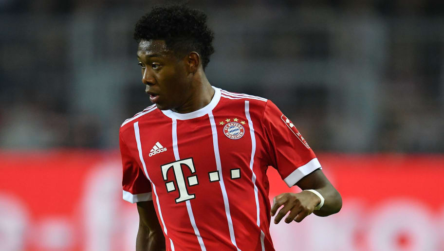 DORTMUND, GERMANY - NOVEMBER 04:  David Alaba of Muenchen in action during the Bundesliga match between Borussia Dortmund and FC Bayern Muenchen at Signal Iduna Park on November 4, 2017 in Dortmund, Germany.  (Photo by Stuart Franklin/Bongarts/Getty Images)