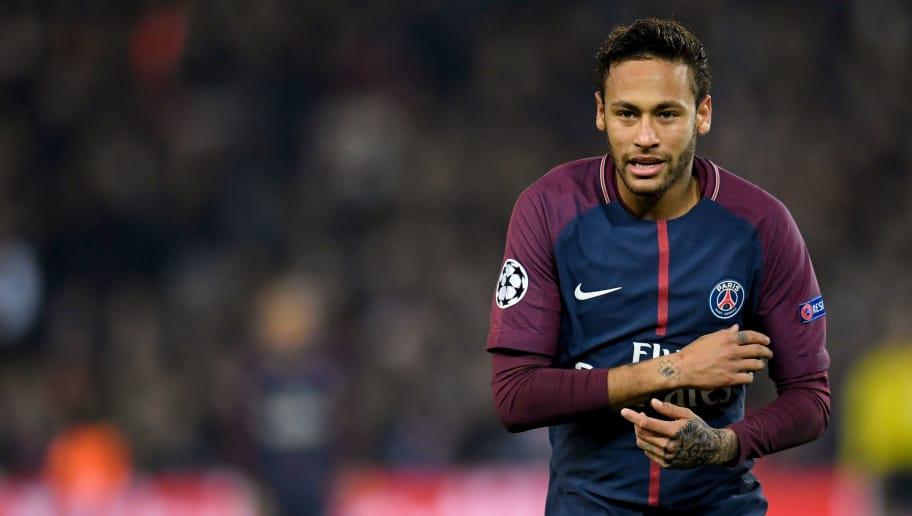 d37b94d8bda24 Paris Saint-Germain s Brazilian Neymar gestures during the UEFA Champions  League Group B football match