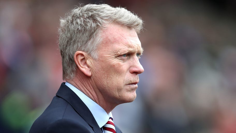 SUNDERLAND, ENGLAND - MAY 13:  David Moyes, Manager of Sunderland looks on during the Premier League match between Sunderland and Swansea City at Stadium of Light on May 13, 2017 in Sunderland, England.  (Photo by Ian MacNicol/Getty Images)