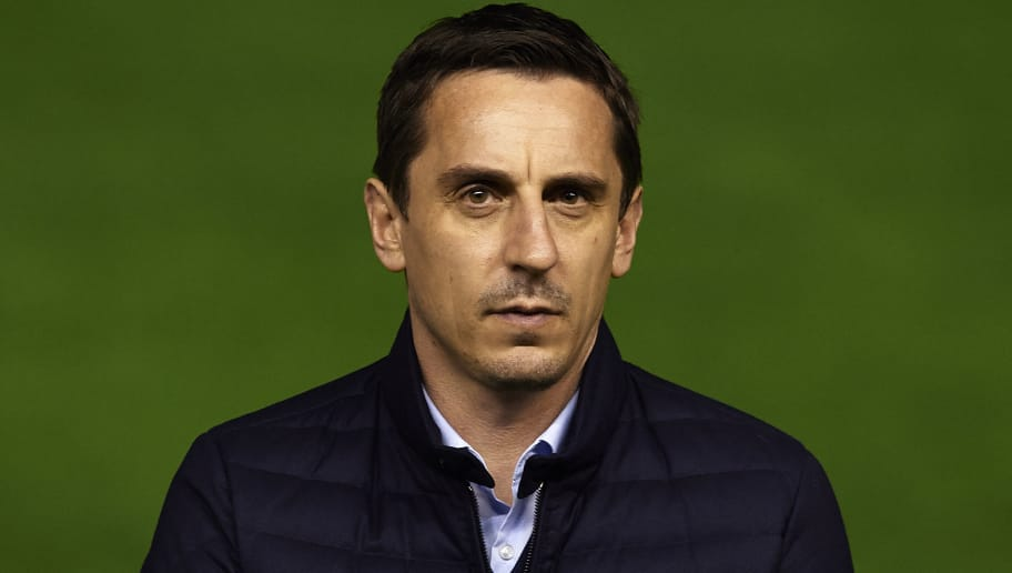 VALENCIA, SPAIN - JANUARY 03:  Gary Neville manager of Valencia CF looks on prior the La Liga match between Valencia CF and Real Madrid CF at Estadi de Mestalla on January 03, 2016 in Valencia, Spain.  (Photo by Manuel Queimadelos Alonso/Getty Images)
