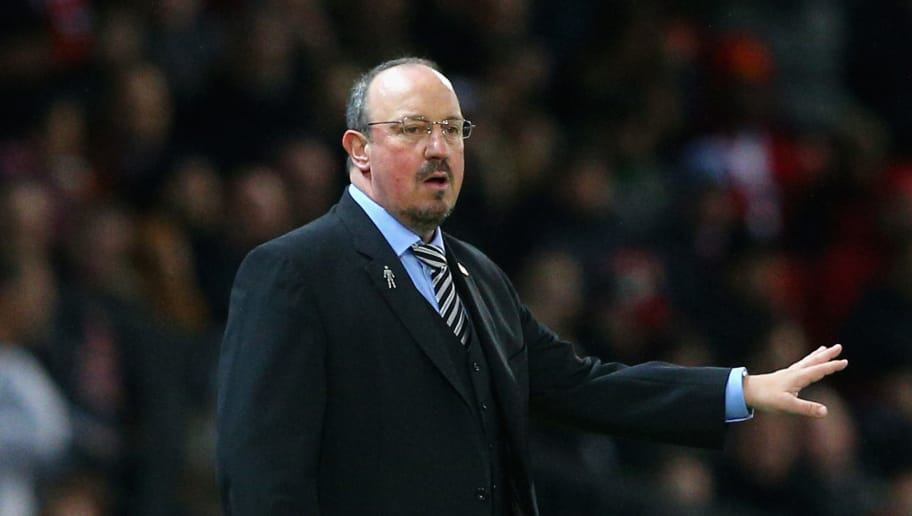 MANCHESTER, ENGLAND - NOVEMBER 18:  Rafael Benitez, Manager of Newcastle United reacts during the Premier League match between Manchester United and Newcastle United at Old Trafford on November 18, 2017 in Manchester, England.  (Photo by Alex Livesey/Getty Images)