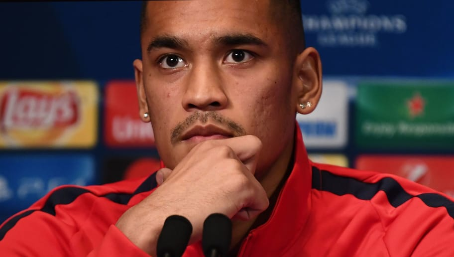 Paris Saint-Germain's French goalkeeper Alphonse Areola gives a press conference at the Parc des Princes stadium in Paris on November 21, 2017, on the eve of the UEFA Champions League football match against Celtic Glasgow.  / AFP PHOTO / FRANCK FIFE        (Photo credit should read FRANCK FIFE/AFP/Getty Images)
