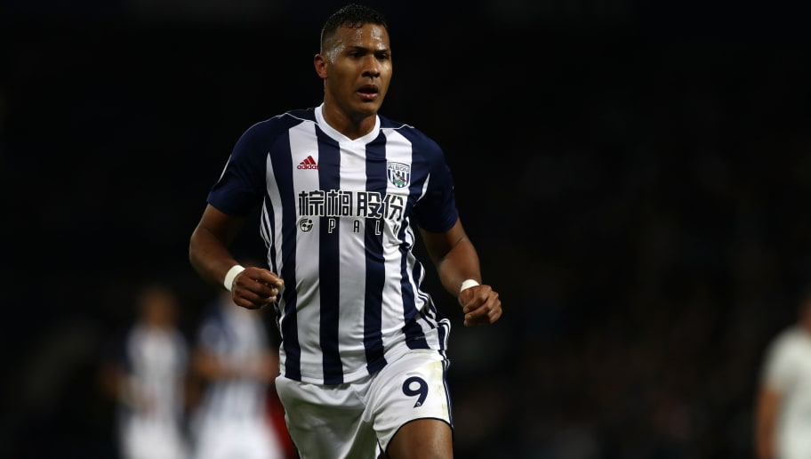 WEST BROMWICH, ENGLAND - NOVEMBER 18: Jose Salomon Rondon of West Bromwich Albion during the Premier League match between West Bromwich Albion and Chelsea at The Hawthorns on November 18, 2017 in West Bromwich, England. (Photo by Catherine Ivill/Getty Images)
