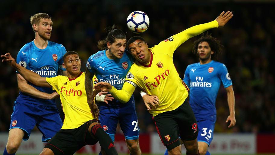 Arsenal Star Hector Bellerin Mocks Watford Striker Troy Deeney