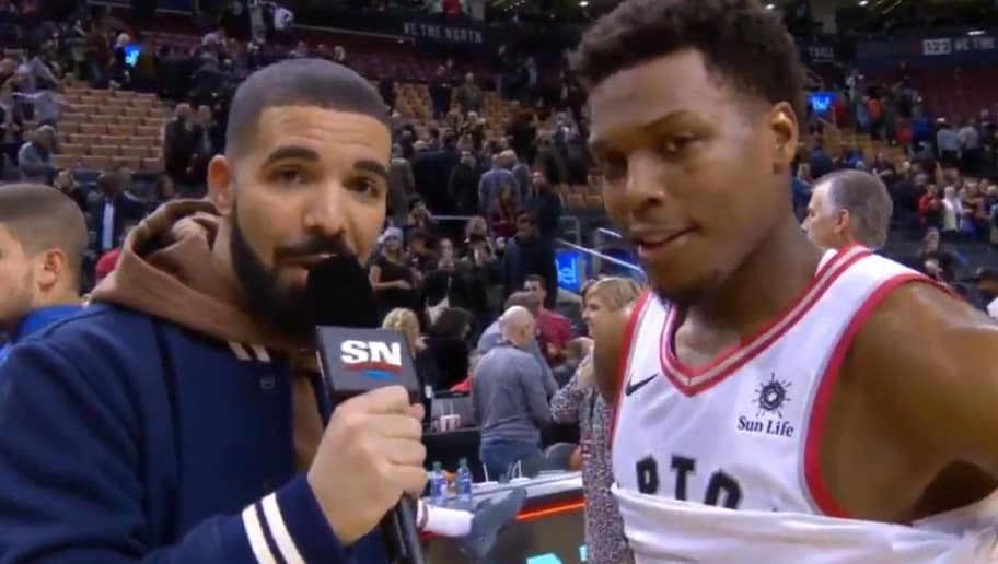 VIDEO Drake Just Gave An Amazing Postgame Interview With Kyle Lowry Adrian Wilson
