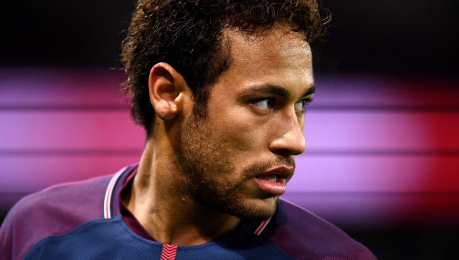 Paris Saint-Germain's Brazilian forward Neymar is pictured during the French L1 football match between Paris Saint-Germain and Troyes at the Parc des Princes stadium in Paris on November 29, 2017.   / AFP PHOTO / FRANCK FIFE        (Photo credit should read FRANCK FIFE/AFP/Getty Images)