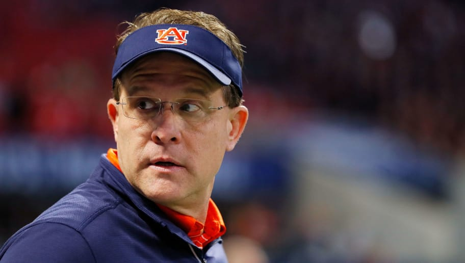 ATLANTA, GA - DECEMBER 02: Head coach Gus Malzahn of the Auburn Tigers on the field prior to the game against the Georgia Bulldogs in the SEC Championship at Mercedes-Benz Stadium on December 2, 2017 in Atlanta, Georgia. (Photo by Kevin C.  Cox/Getty Images)