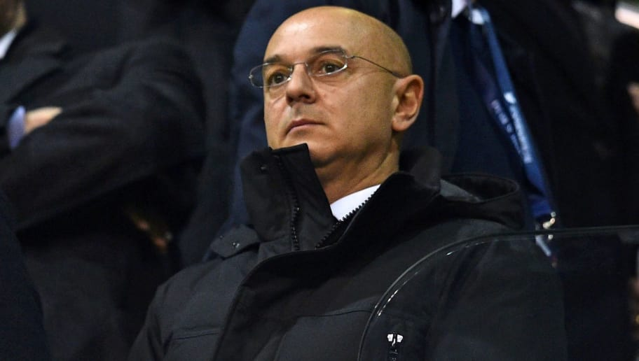 Tottenham Hotspur's English chairman Daniel Levy waits for kick off in the English Premier League football match between Tottenham Hotspur and Chelsea at White Hart Lane in London, on January 4, 2017. / AFP / IKIMAGES / IKIMAGES / RESTRICTED TO EDITORIAL USE. No use with unauthorized audio, video, data, fixture lists, club/league logos or 'live' services. Online in-match use limited to 45 images, no video emulation. No use in betting, games or single club/league/player publications.        (Photo credit should read IKIMAGES/AFP/Getty Images)