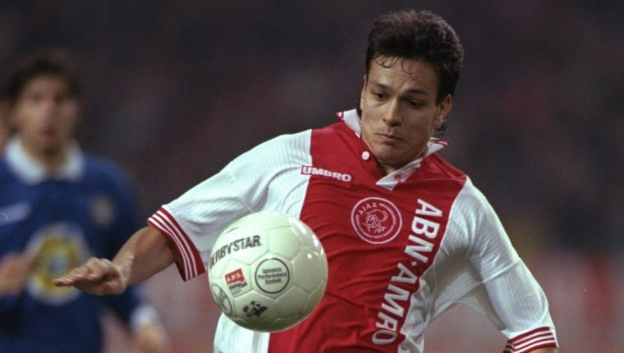 20 Oct 1997:  Jari Litmanen of Ajax in action during a UEFA Cup match against Udinese at the Amsterdam Arena in Holland. Ajax won the match 1-0. \ Mandatory Credit: Stu  Forster/Allsport
