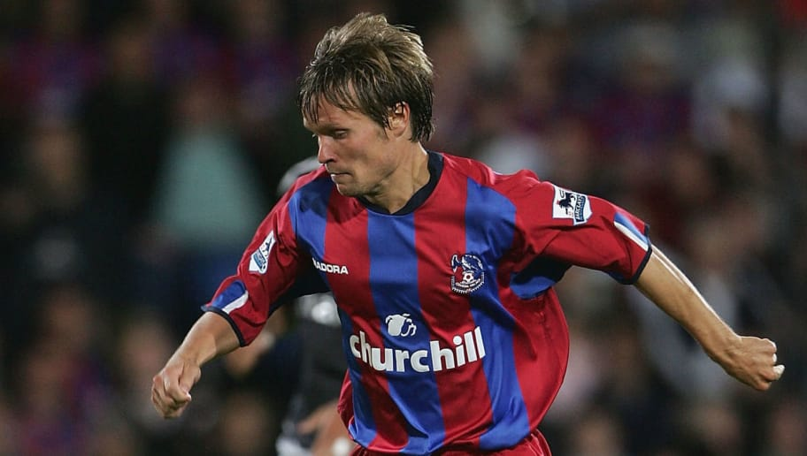 LONDON - AUGUST 24: Joonas Kolkka of Crystal Palace in action during the Barclays Premiership match against  Chelsea at Selhurst Park on August 24, 2004 in London. (Photo by Phil Cole/Getty Images)