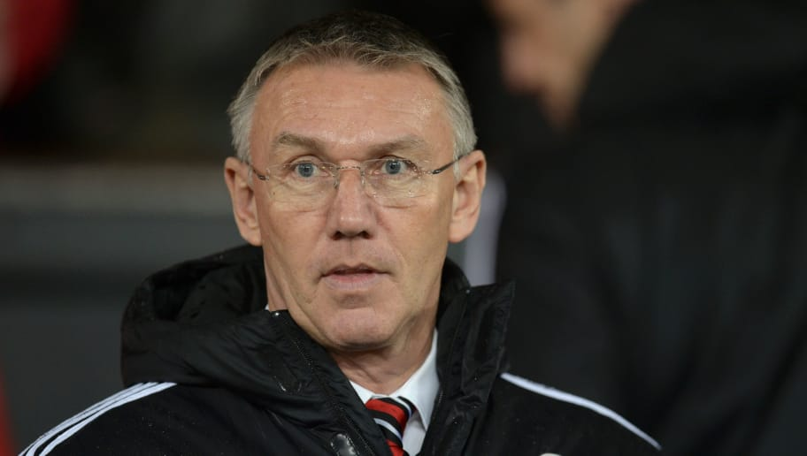 Sheffield United's English manager Nigel Adkins arrives for the English FA Cup third-round football match between Manchester United and Sheffield United at Old Trafford in north west England on January 9, 2016.   AFP PHOTO / OLI SCARFF   / AFP / OLI SCARFF        (Photo credit should read OLI SCARFF/AFP/Getty Images)