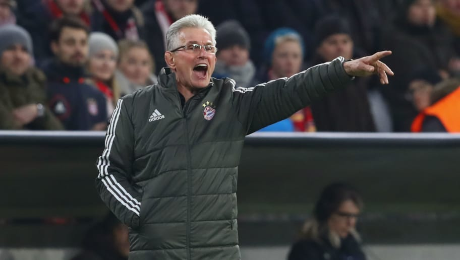 MUNICH, GERMANY - DECEMBER 05:  Jupp Heynckes, head coach of Bayern Muenchen reacts during the UEFA Champions League group B match between Bayern Muenchen and Paris Saint-Germain at Allianz Arena on December 5, 2017 in Munich, Germany.  (Photo by Alexander Hassenstein/Bongarts/Getty Images)