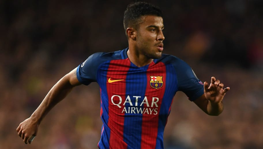 BARCELONA, SPAIN - MARCH 08: Rafinha of Barcelona in action during the UEFA Champions League Round of 16 second leg match between FC Barcelona and Paris Saint-Germain at Camp Nou on March 8, 2017 in Barcelona, Spain.  (Photo by Laurence Griffiths/Getty Images)