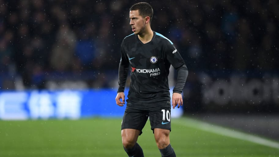 HUDDERSFIELD, ENGLAND - DECEMBER 12:  Eden Hazard of Chelsea during the Premier League match between Huddersfield Town and Chelsea at John Smith's Stadium on December 12, 2017 in Huddersfield, England.  (Photo by Gareth Copley/Getty Images)