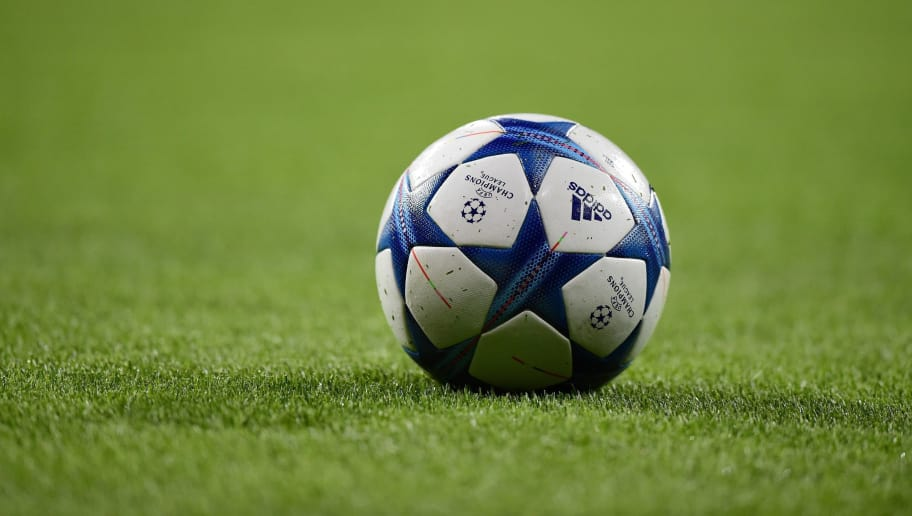 A ball rests on the field before the UEFA Champions League football match Real Madrid CF vs Paris Saint-Germain (PSG) at the Santiago Bernabeu stadium in Madrid on November 3, 2015.   AFP PHOTO / JAVIER SORIANO        (Photo credit should read JAVIER SORIANO/AFP/Getty Images)