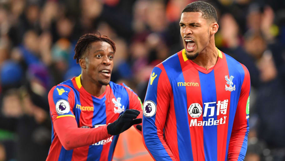 Crystal Palace's English midfielder Ruben Loftus-Cheek (R) celebrates scoring their first goal with Crystal Palace's Ivorian striker Wilfried Zaha during the English Premier League football match between Crystal Palace and Stoke City at Selhurst Park in south London on November 25, 2017. / AFP PHOTO / OLLY GREENWOOD / RESTRICTED TO EDITORIAL USE. No use with unauthorized audio, video, data, fixture lists, club/league logos or 'live' services. Online in-match use limited to 75 images, no video emulation. No use in betting, games or single club/league/player publications.  /         (Photo credit should read OLLY GREENWOOD/AFP/Getty Images)