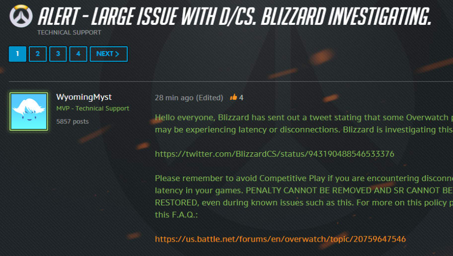 Overwatch Players Experiencing Latency Should Avoid