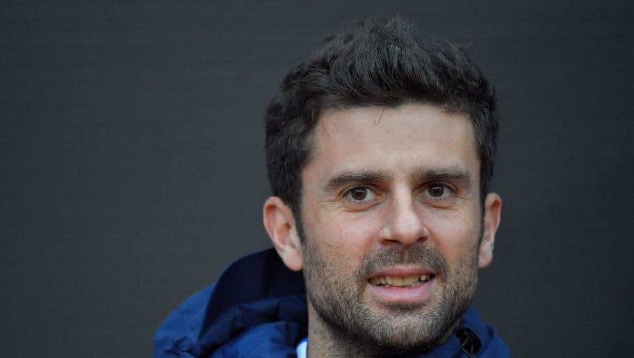 Paris Saint-Germain's Italian midfielder Thiago Motta arrives to attend the French Ligue 1 football match Rennes vs Paris SG on December 16, 2017 in Rennes, western France.    / AFP PHOTO / LOIC VENANCE        (Photo credit should read LOIC VENANCE/AFP/Getty Images)