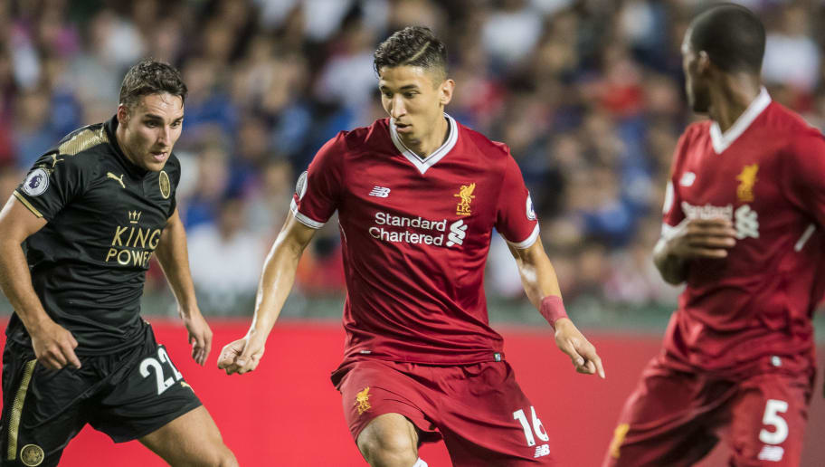 HONG KONG, HONG KONG - JULY 22: Liverpool FC midfielder Marko Grujic in action during the Premier League Asia Trophy match between Liverpool FC and Leicester City FC at Hong Kong Stadium on July 22 2017, in Hong Kong, Hong Kong. (Photo by Victor Fraile/Getty Images)
