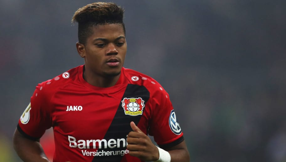 MOENCHENGLADBACH, GERMANY - DECEMBER 20:  Leon Bailey of Bayer 04 Leverkusen in action during the DFB-Pokal match between Borussia Moenchengladbach and Bayer Leverkusen at Borussia-Park on December 20, 2017 in Moenchengladbach, Germany.  (Photo by Dean Mouhtaropoulos/Bongarts/Getty Images)