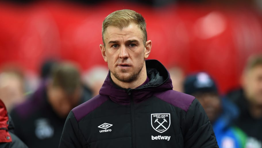 STOKE ON TRENT, ENGLAND - DECEMBER 16:  Joe Hart of West Ham United during the Premier League match between Stoke City and West Ham United at Bet365 Stadium on December 16, 2017 in Stoke on Trent, England.  (Photo by Tony Marshall/Getty Images)