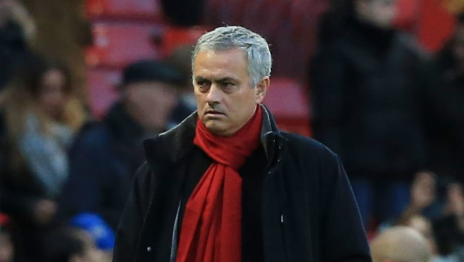 Manchester United's Portuguese manager Jose Mourinho arrives for the English Premier League football match between Manchester United and Burnley at Old Trafford in Manchester, north west England, on December 26, 2017. / AFP PHOTO / Lindsey PARNABY / RESTRICTED TO EDITORIAL USE. No use with unauthorized audio, video, data, fixture lists, club/league logos or 'live' services. Online in-match use limited to 75 images, no video emulation. No use in betting, games or single club/league/player publications.  /         (Photo credit should read LINDSEY PARNABY/AFP/Getty Images)