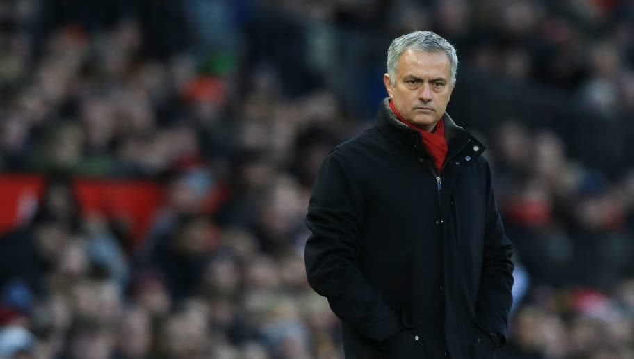 Manchester United's Portuguese manager Jose Mourinho watches from the touchline during the English Premier League football match between Manchester United and Burnley at Old Trafford in Manchester, north west England, on December 26, 2017. / AFP PHOTO / Lindsey PARNABY / RESTRICTED TO EDITORIAL USE. No use with unauthorized audio, video, data, fixture lists, club/league logos or 'live' services. Online in-match use limited to 75 images, no video emulation. No use in betting, games or single club/league/player publications.  /         (Photo credit should read LINDSEY PARNABY/AFP/Getty Images)