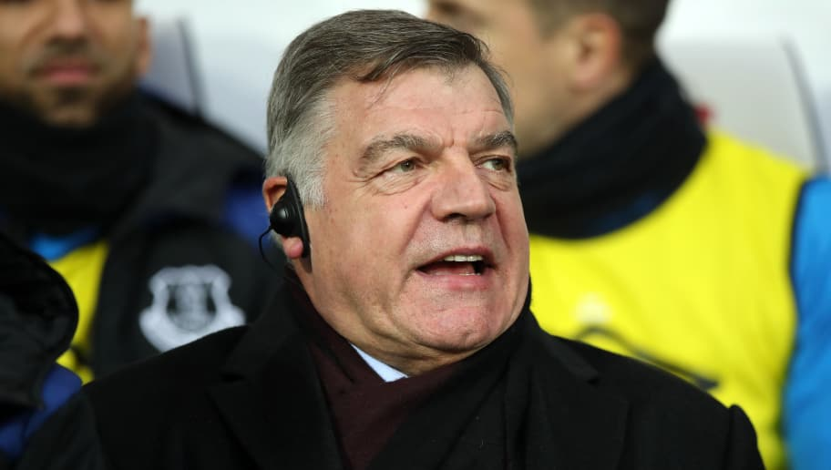 WEST BROMWICH, ENGLAND - DECEMBER 26: Everton manager Sam Allardyce during the Premier League match between West Bromwich Albion and Everton at The Hawthorns on December 26, 2017 in West Bromwich, England. (Photo by Lynne Cameron/Getty Images)