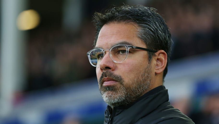 LIVERPOOL, ENGLAND - DECEMBER 02: David Wagner, Manager of Huddersfield Town looks on during the Premier League match between Everton and Huddersfield Town at Goodison Park on December 2, 2017 in Liverpool, England.  (Photo by Jan Kruger/Getty Images)