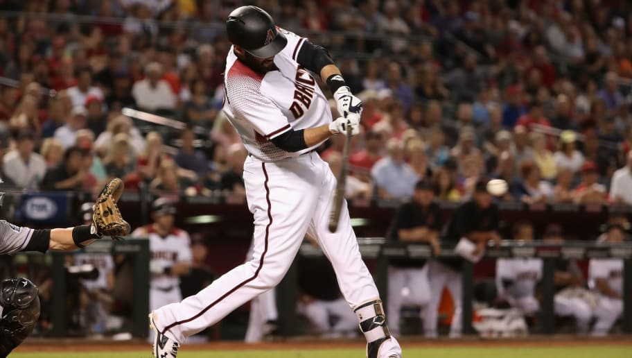 PHOENIX, AZ - SEPTEMBER 13:  J.D. Martinez #28 of the Arizona Diamondbacks bats against the Colorado Rockies during the MLB game at Chase Field on September 13, 2017 in Phoenix, Arizona.  (Photo by Christian Petersen/Getty Images)