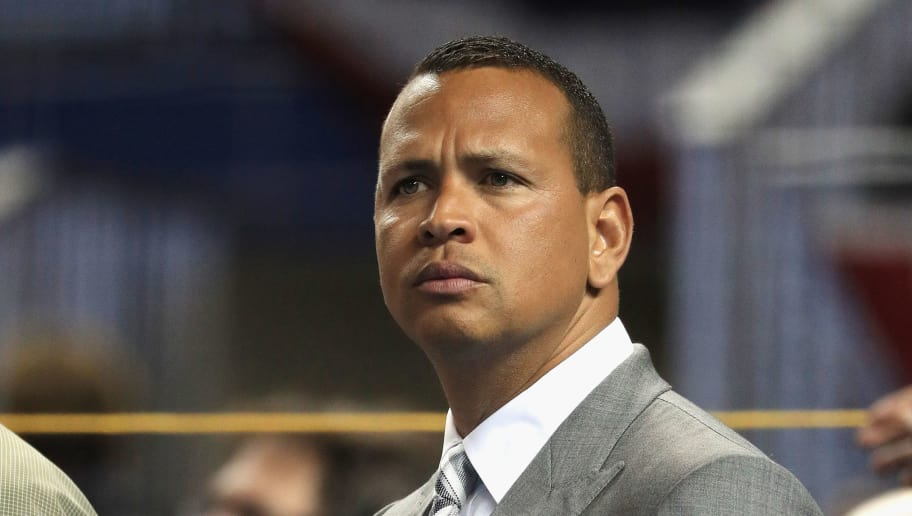 MIAMI, FL - JULY 11:  Former MLB player Alex Rodriguez attends batting practice for the 88th MLB All-Star Game at Marlins Park on July 11, 2017 in Miami, Florida.  (Photo by Mike Ehrmann/Getty Images)