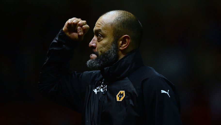 BRISTOL, ENGLAND - DECEMBER 30: Nuno Espirito Santo, Manager of Wolverhampton Wanderers celebrates at the final whistle during the Sky Bet Championship match between Bristol City and Wolverhampton Wanderers at Ashton Gate on December 30, 2017 in Bristol, England. (Photo by Harry Trump/Getty Images)