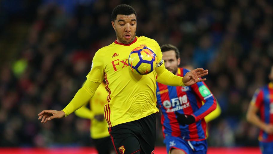 LONDON, ENGLAND - DECEMBER 12: Troy Deeney of Watford during the Premier League match between Crystal Palace and Watford at Selhurst Park on December 12, 2017 in London, England. (Photo by Catherine Ivill/Getty Images)