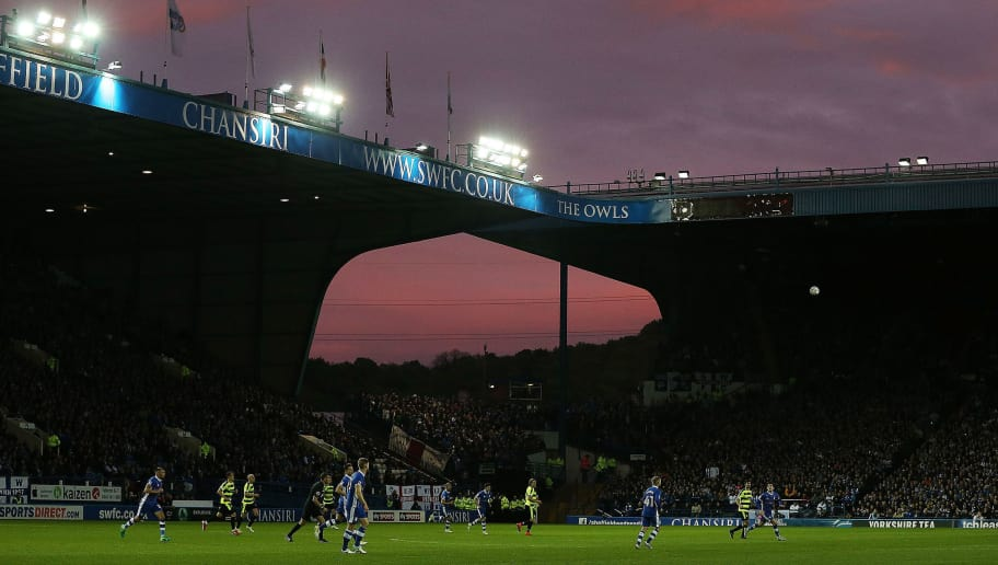 SHEFFIELD, ENGLAND - MAY 17: General view inside the stadium during the Sky Bet Championship play off semi final, second leg match between Sheffield Wednesday and Huddersfield Town at Hillsborough Stadium on May 17, 2017 in Sheffield, England.  (Photo by Nigel Roddis/Getty Images)
