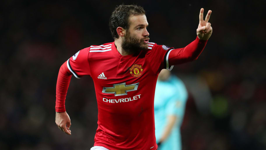 MANCHESTER, ENGLAND - DECEMBER 13: Juan Mata of Manchester United during the Premier League match between Manchester United and AFC Bournemouth at Old Trafford on December 13, 2017 in Manchester, England. (Photo by Catherine Ivill/Getty Images)