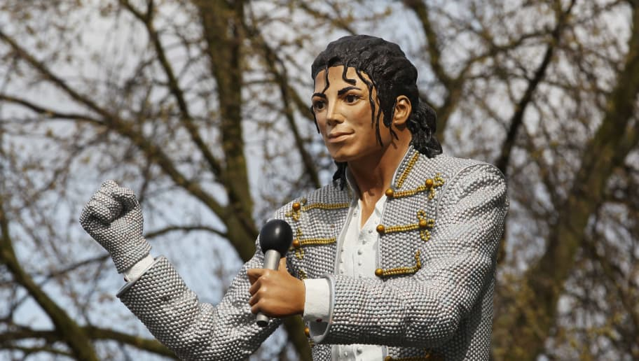 LONDON, ENGLAND - APRIL 03:  Fulham chairman Mohamed Al Fayed unveils a statue in tribute to Michael Jackson prior to the Barclays Premier League match between Fulham and Blackpool at Craven Cottage on April 3, 2011 in London, England.  (Photo by Ian Walton/Getty Images)