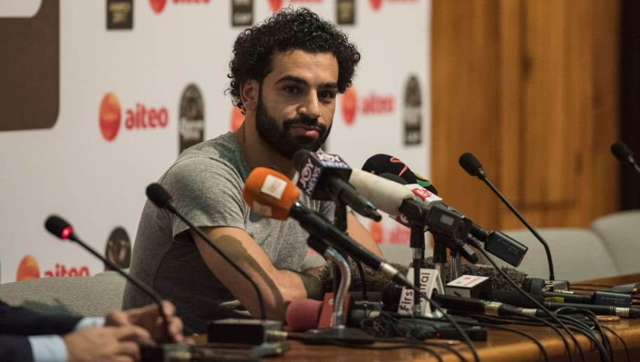 African Player of the Year Award nominee Liverpool's Egyptian striker Mohamed Salah addresses a media briefing ahead of the Confederation of African Football (CAF) awards ceremony at the International Conference Centre in Accra, on January 4, 2018.  Liverpool star Mohamed Salah hopes to add the African Player of the Year award in Ghana on January 4 to his rapidly expanding collection of individual honours. The Egyptian, scorer of 23 goals in all competitions midway through his first season at Anfield, has been voted BBC African Footballer of the Year and Arab Player of the Year.  / AFP PHOTO / CRISTINA ALDEHUELA        (Photo credit should read CRISTINA ALDEHUELA/AFP/Getty Images)
