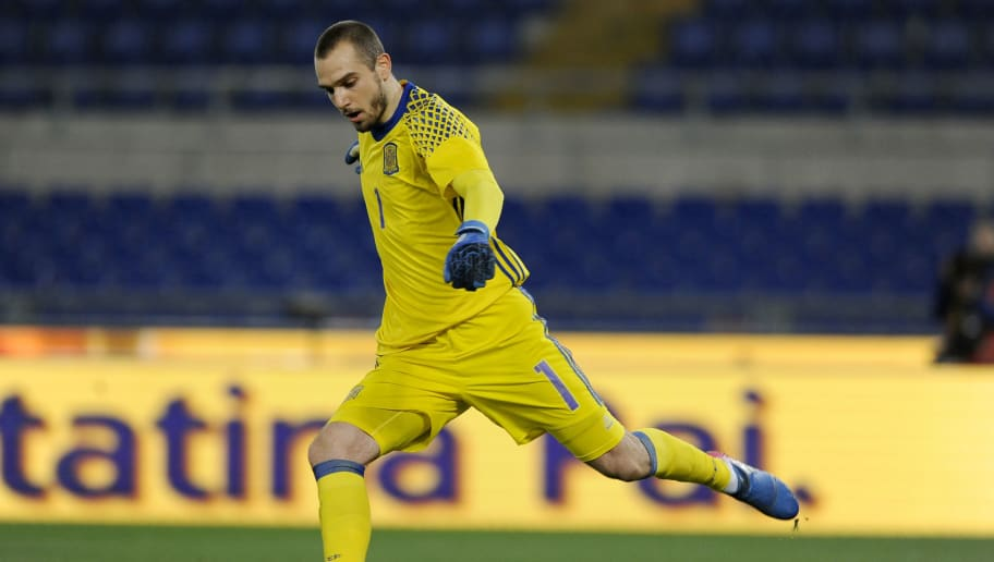 ROME, ITALY - MARCH 27:  Pau Lopez of Spain U21 during the international friendly match between Italy U21 and Spain U21 at Olimpico Stadium on March 27, 2017 in Rome, Italy.  (Photo by Marco Rosi/Getty Images)