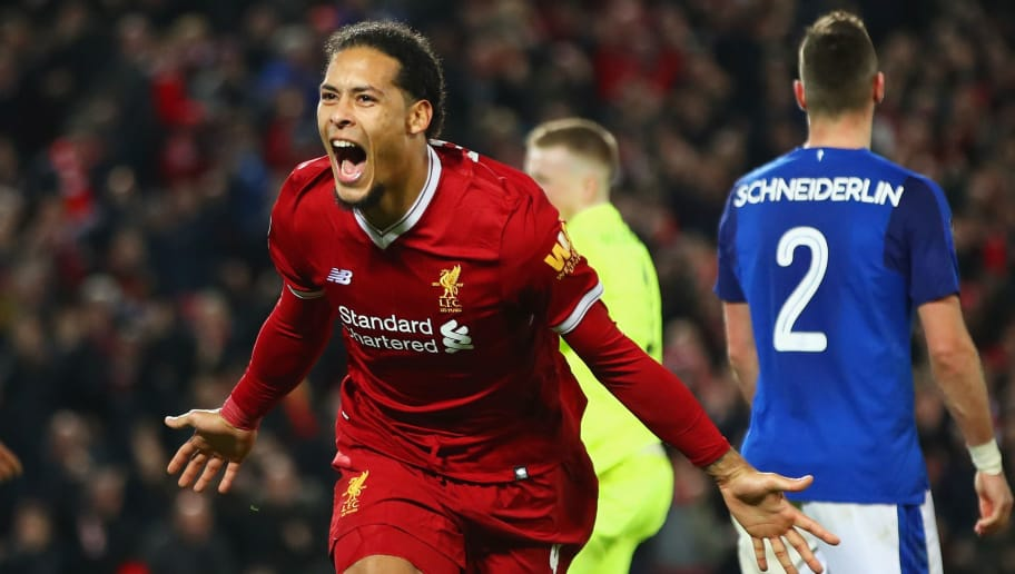 Image result for virgil van dijk vs everton