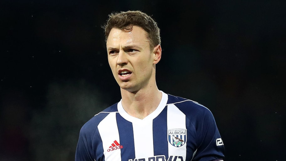 WEST BROMWICH, ENGLAND - DECEMBER 26: Jonny Evans of West Bromwich Albion during the Premier League match between West Bromwich Albion and Everton at The Hawthorns on December 26, 2017 in West Bromwich, England. (Photo by Lynne Cameron/Getty Images)