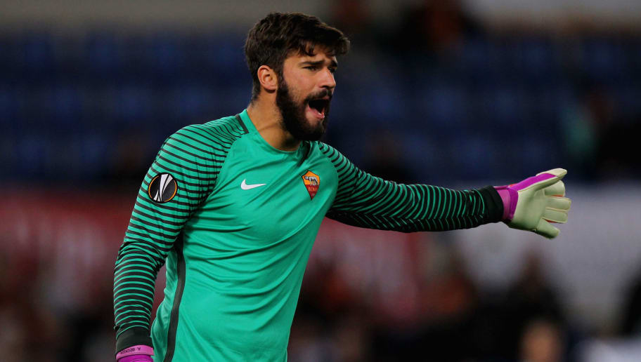 ROME, ITALY - NOVEMBER 24:  AS Roma goalkeeper Allison Becker gestures during the UEFA Europa League match between AS Roma and FC Viktoria Plzen at Olimpico Stadium on November 24, 2016 in Rome.  (Photo by Paolo Bruno/Getty Images)